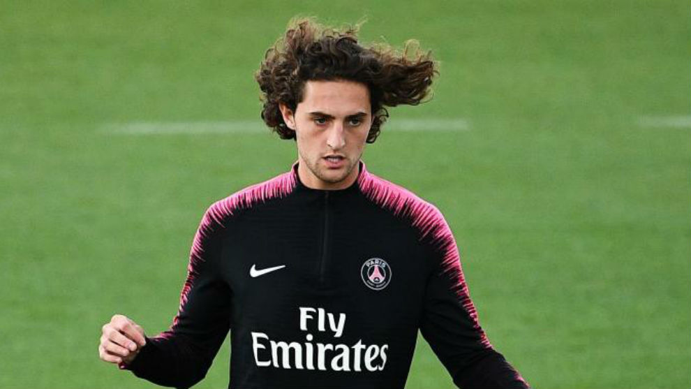 Paris Saint-Germain midfielder Adrien Rabiot