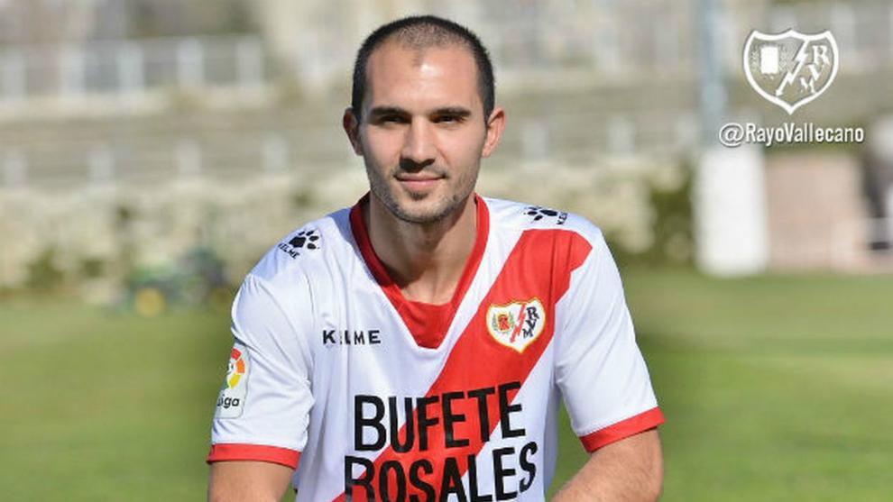 Emiliano Armenteros, durante su etapa en el Rayo Vallecano el año...
