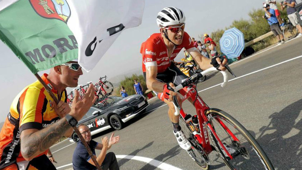 Mollema durante la 11ª etapa de la Vuelta.
