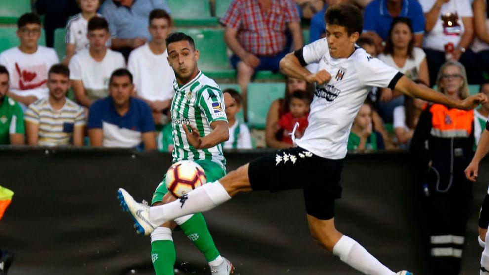 Sergio León, durante el partido
