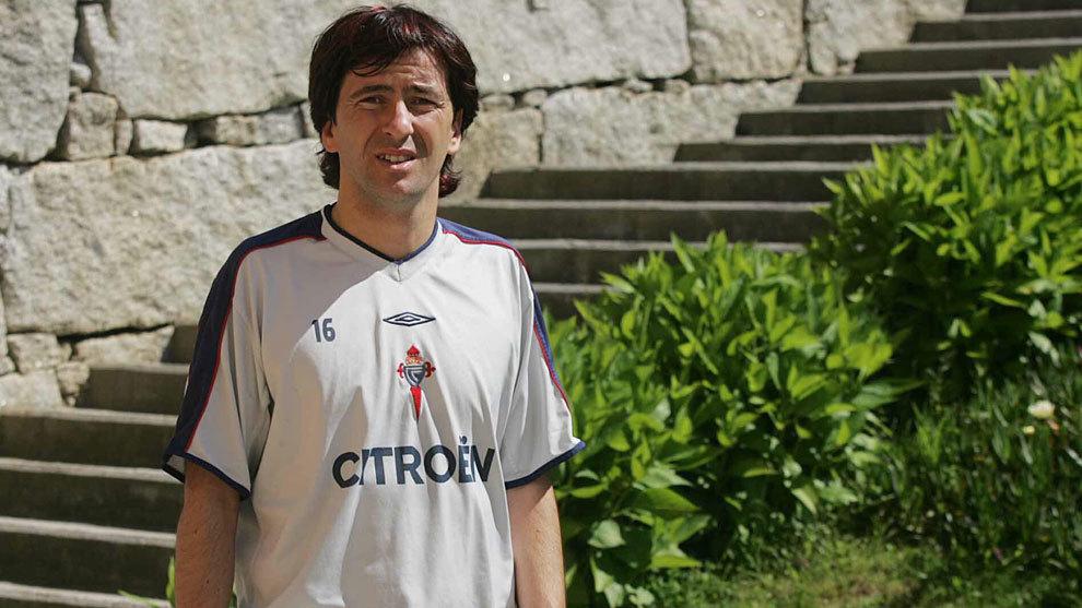 José Ignacio, durante su etapa como jugador del Celta.
