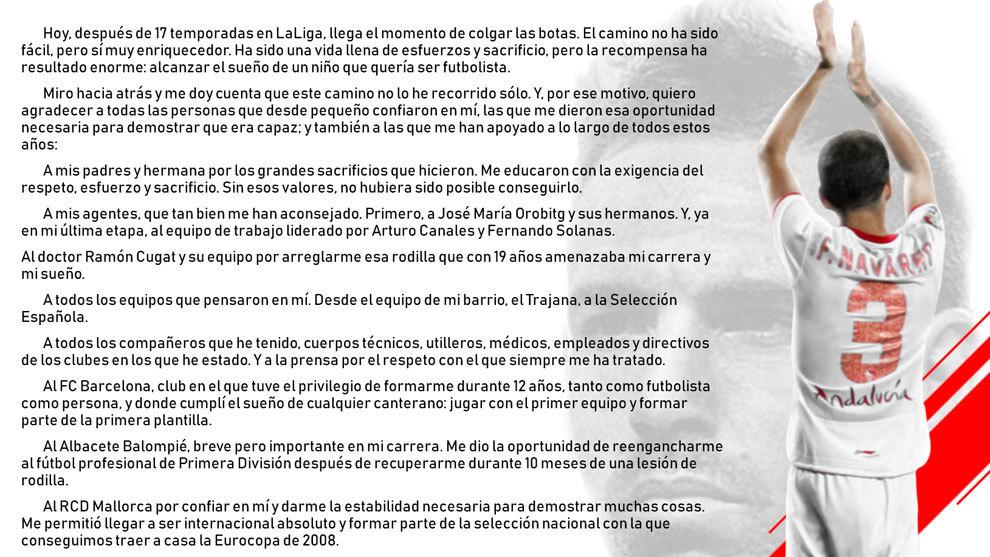 Fernando Navarro announces his retirement