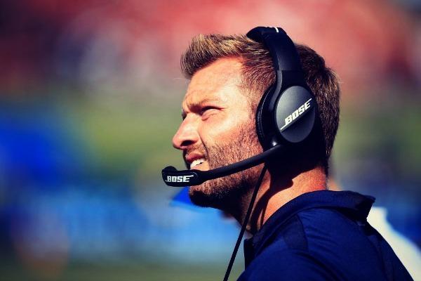 McVay, entrenador de Los Ángeles Rams de fútbol americano, fue...