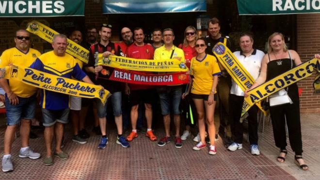 Hermanamiento entre aficionados de la AD Alcorcón y el RCD Mallorca
