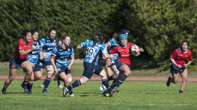 'Las Leonas' durante un partido.