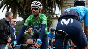 Alejandro Valverde en la salida de la 12ª etapa.