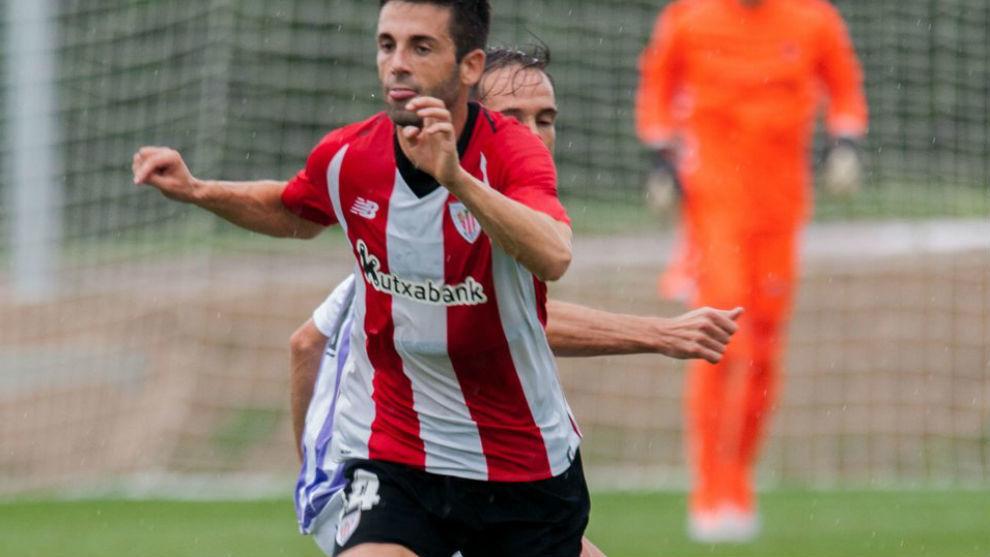 Susaeta durante el amistoso ante el Valladolid.