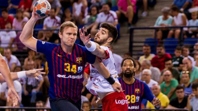 El barcelonista Palmarsson supera a Garciandía en la reciente...