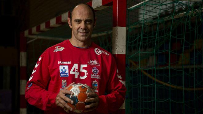 José Javier Hombrados, en un entrenamiento reciente del Quabit...