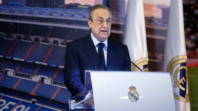 Florentino habla en la presentación de Mariano.