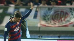 Messi se disculpa ante los hinchas de River tras marcarle en el...