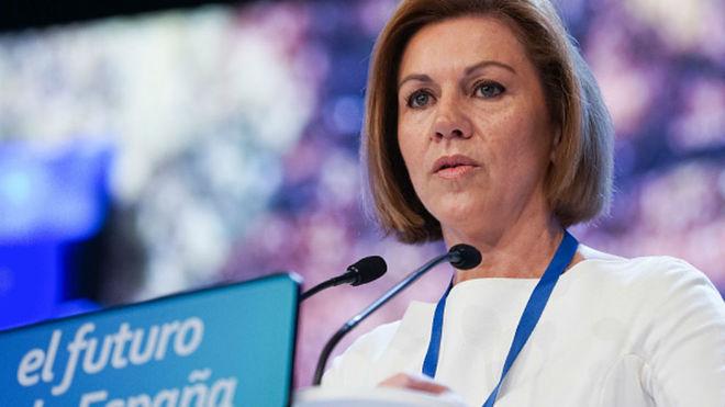 María Dolores de Cospedal anuncia que deja la Presidencia del PP de...