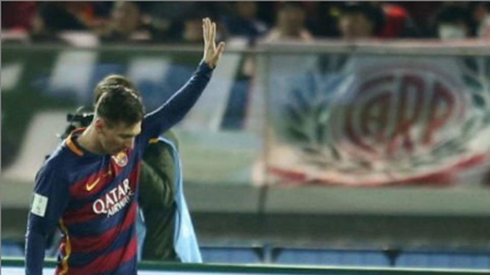 River Plate let slip Lionel Messi