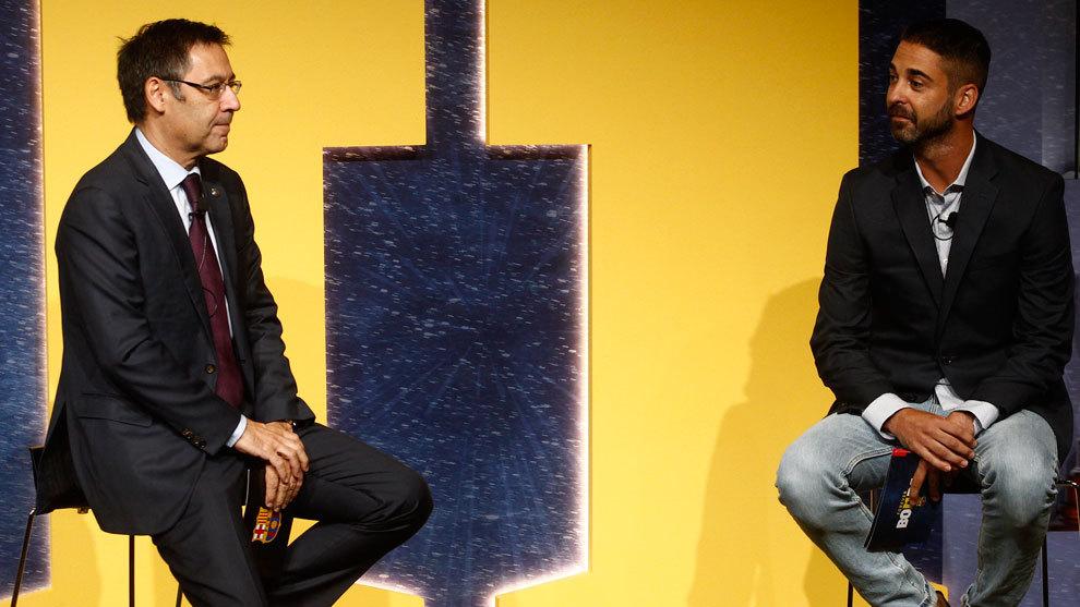 Josep Maria Bartomeu and Juan Carlos Navarro