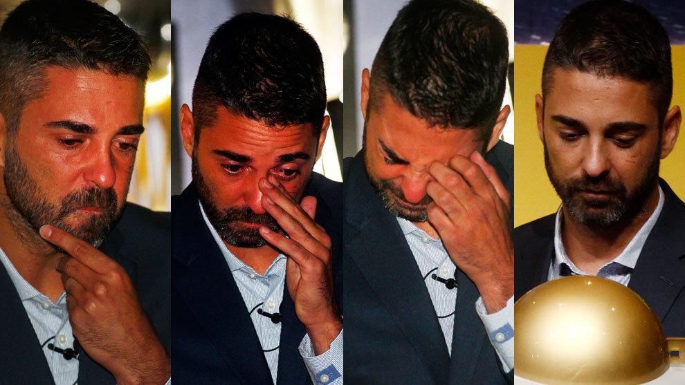 Las caras de Navarro en su despedida