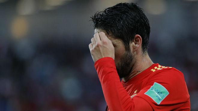 Isco, en un partido con España