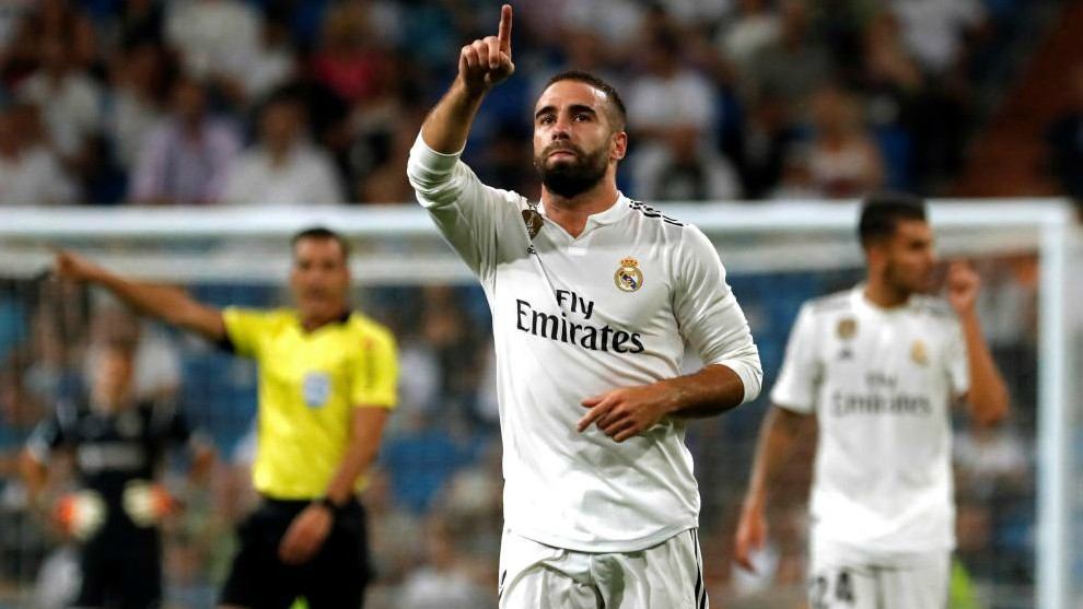 Real Madrid right-back Dani Carvajal.