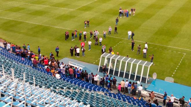 El Estadio Azul volverá a vivir un partido de fútbol