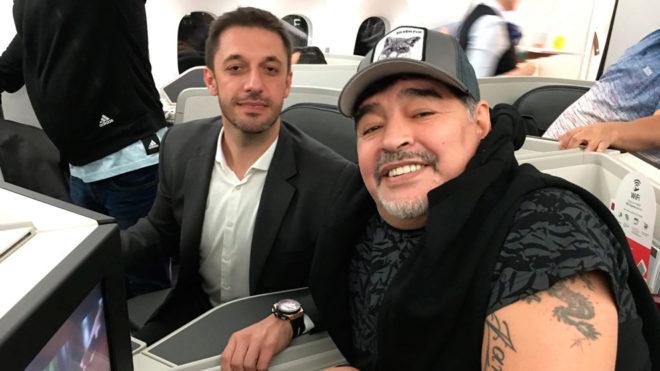 Morla y Maradona ya viajan a México.