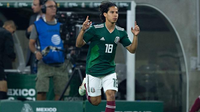 Diego Lainez hace su debut con la selección mayor
