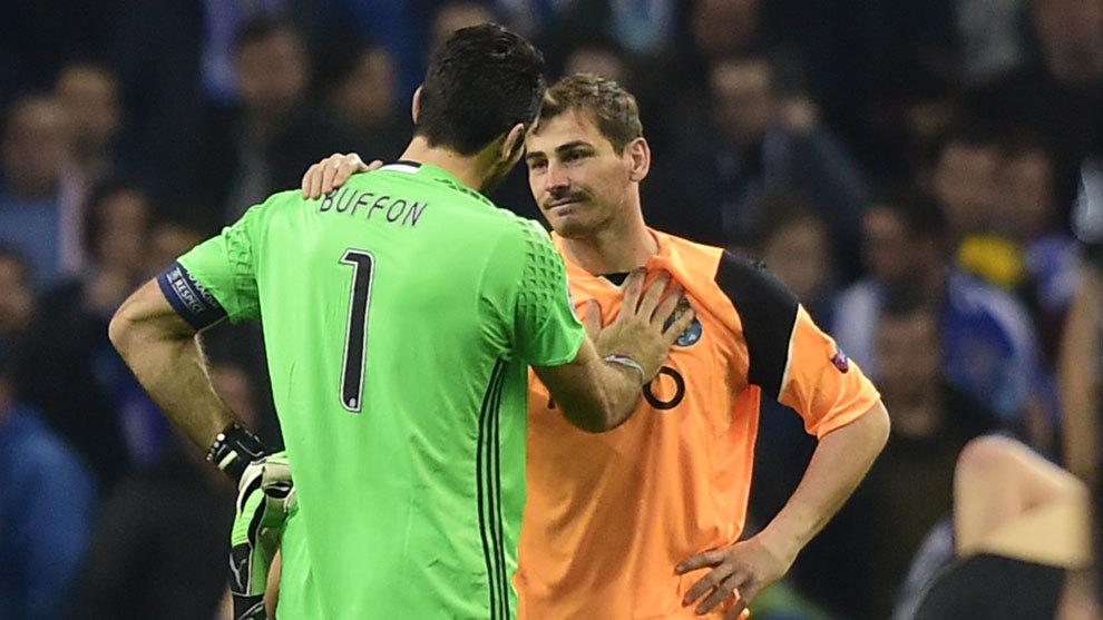 Gianluigi Buffon and Iker Casillas.