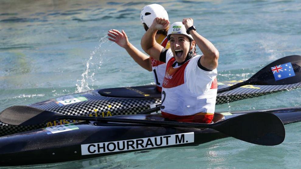 Maialen Chourraut celebra uno de sus triunfos