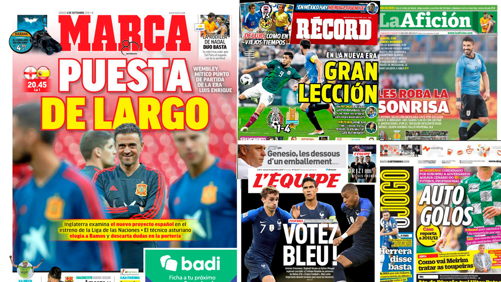 Las portadas del sábado 8 de septiembre