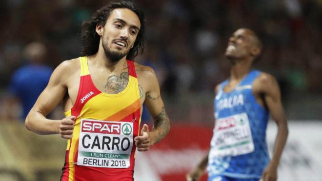 Fernando Carro tras concluir segundo en el Europeo de Berlín.