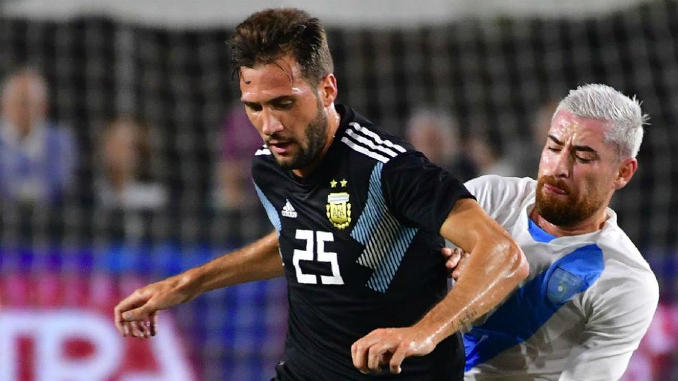 Franco Vázquez (29), en su debut con Argentina.