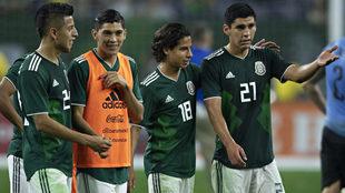 Jóvenes de la selección mexicana