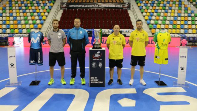 Pola, Jesús Velasco, Dani Rodríguez y Mauricio, en el Quijote Arena.