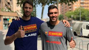 Ante Tomic y Pierre Oriola, los nuevos capitanes del Barça
