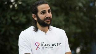 Ricky Rubio durante su entrevista con MARCA