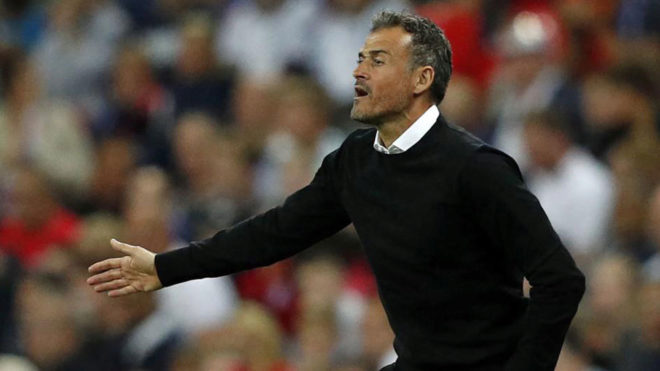 Luis Enrique was thrilled to win on his debut