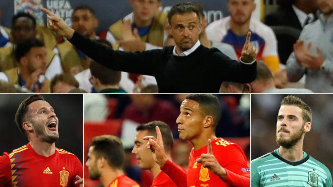 Luis Enrique's Spain is looking strong