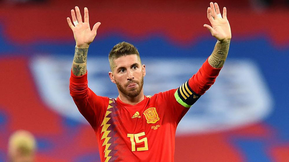 SErgio Ramos was booed by fans at Wembley