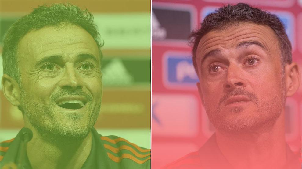 Spain's manager Luis Enrique