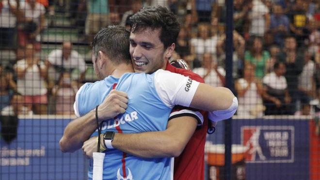 Díaz y Galán celebran su victoria ante Capra y Moyano en Lugo