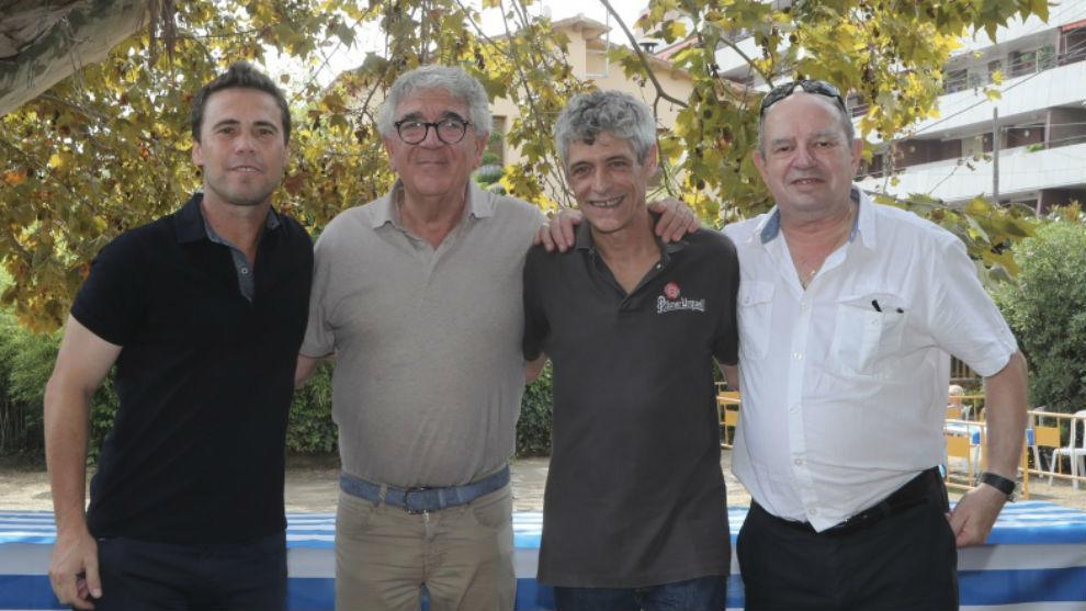 Rubi, con Daniel Sánchez Llibre y otros miembros de la peña de...