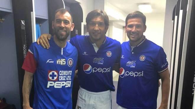 Delgado, Fonseca y Pereyra se moestraron muy felices.