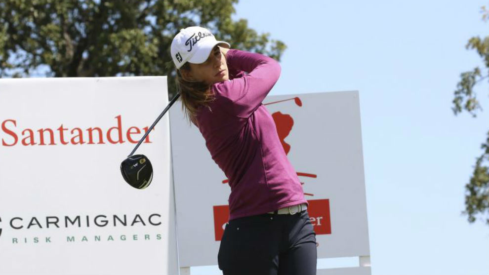 Luna Sobrón, durante un torneo del Santander Tour.