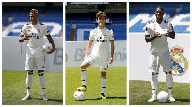 Mariano Diaz, Alvaro Odriozola and Vinicius Junior