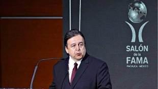 Moreno durante la ceremonia de investidura