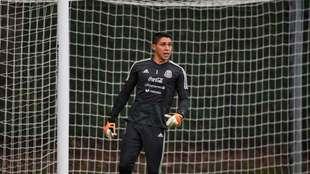 Hugo González en la práctica del combinado nacional