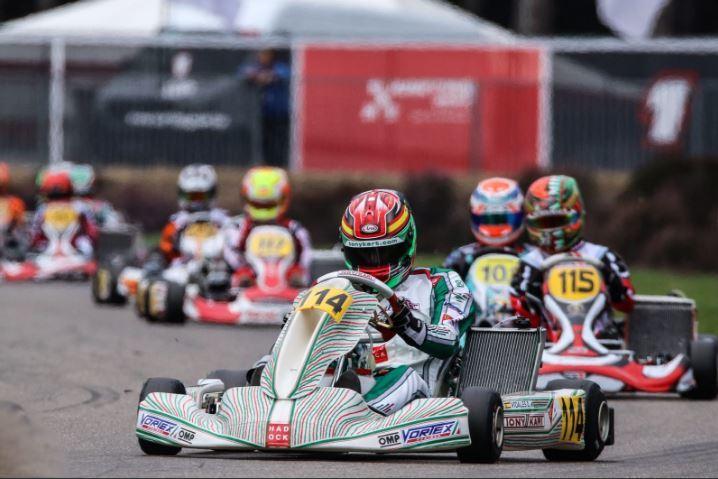 David Vidales, durante el Mundial de Karting KZ2 en Bélgica