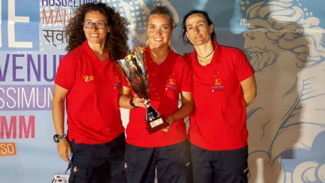 Rosa González, Sandra Prat y Silvia Albarracín.