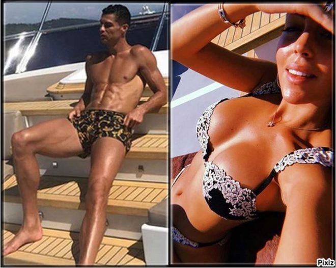 Cristiano Ronaldo y Georgina Rodríguez en su vacaciones en alta mar