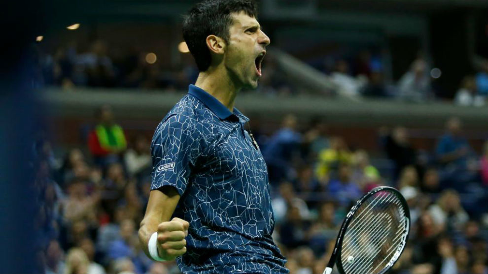 Djokovic celebra el triunfo en el US Open