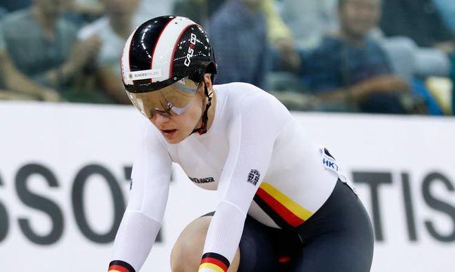 Kristina durante una competencia.