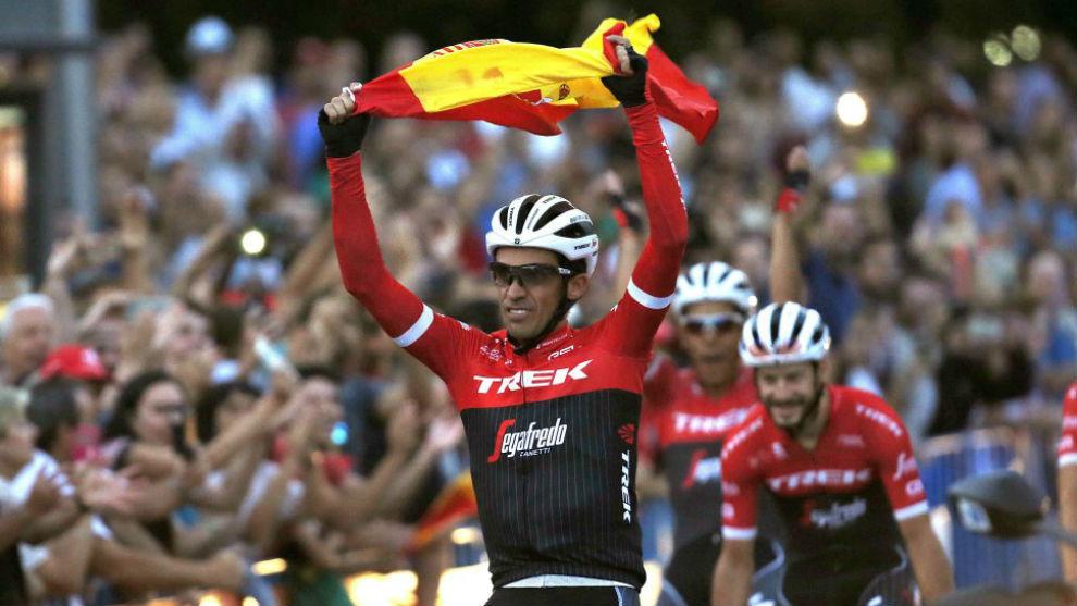 Alberto Contador el día que se despidió del ciclismo.